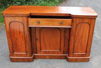 1900's Large Well Fitted Breakfront Mahogany 3 Door Sideboard + Key (3 of 5)