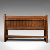 Antique Hallway Bench, English, Pine, Reception, Pew, Ecclesiastic, Victorian (6 of 12)
