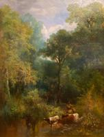 """Cattle Watering"" – Large Oil on Canvas by William Widgery (2 of 4)"