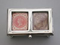 Victorian Silver Twin Compartment Stamp Box by Grey & Co, Birmingham 1897 (2 of 12)