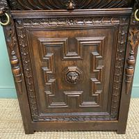 Victorian Carved Oak Antique Bookcase (7 of 9)