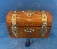 Victorian Brassbound Burr Walnut Stationary Box (2 of 11)