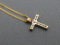 Gold & Diamond Cross & Chain (2 of 6)