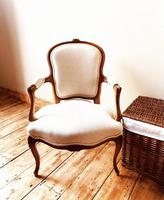 French Antique Style Chairs / Louis XV Armchairs / Walnut Chairs / Fauteuils (5 of 8)