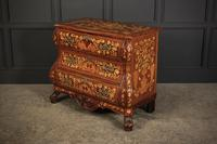 18th Century Dutch Marquetry Inlaid Walnut Bombe Shaped Chest (4 of 11)