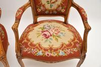Pair of Antique French Tapestry Salon Armchairs (8 of 10)