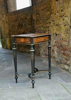 Superb French Inlaid Side Table/Work Table (12 of 18)