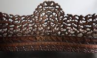 Burmese intricately carved settee in extremely good condition. (6 of 9)