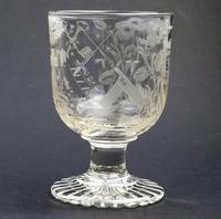 Exceptional, Fine & Rare Regency Oddfellows / Masonic Glass Rummer c.1814 (5 of 11)