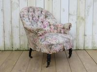 Antique Napoleon III Tub Armchair for re-upholstery (2 of 8)