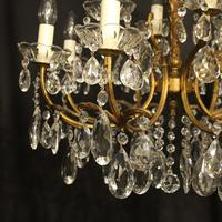 Italian Gilded 12 Light Double Tiered Antique Chandelier (7 of 10)