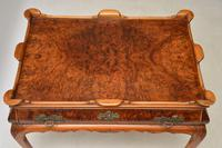 Antique Burr Walnut Tray Top Side Table (7 of 8)