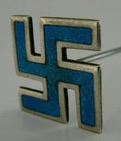 English Novelty Solid Sterling Silver Enamel Good Luck Hat Pin 1910 Antique (3 of 6)