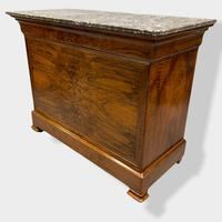 Figured Walnut & Marble Top Commode (15 of 16)