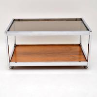 1970's Vintage Rosewood & Chrome Coffee Table by Howard Miller Associates (2 of 8)