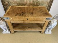Early 20th c Butchers Block On Pine Stand (7 of 7)