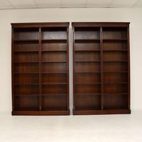 Pair of Large Georgian Style Mahogany Open Bookcases (11 of 11)
