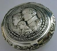 Super Rare German 800 Solid Silver Napoleon Tobacco Snuff Box c.1900 (3 of 10)