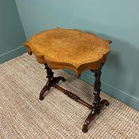 Spectacular Victorian Birds Eye Maple Occasional Table (5 of 8)