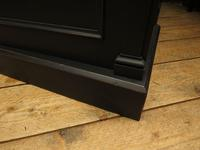Antique Black Painted Triple Linen Press Wardrobe in 4 Parts, Gothic Shabby Chic (18 of 19)