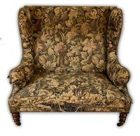 19th Century Two Seat Wingback Settee