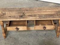 French Rustic Bleached Oak Coffee Table (9 of 17)
