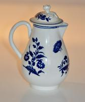 Worcester 'Three Flowers' Pattern, Sparrow-Beak Jug & Cover c.1770 / 1790 (6 of 11)