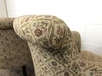 Victorian Three Piece Suite with Gold Floral Upholstery (13 of 26)
