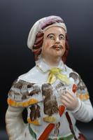 Late 19th Century Staffordshire Flatback Figure of Huntsman & Dog (5 of 5)