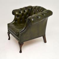 Antique Georgian Style Leather Armchair (3 of 10)