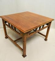 Arts & Crafts Oak Coffee Table (4 of 7)