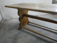 1920s Solid Oak Refectory Table (3 of 14)