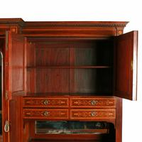 Marquetry Inlaid Wardrobe by Heal & Son (5 of 8)