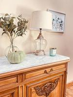 French Antique Sideboard / Walnut Buffet / Marble Cupboard (6 of 10)