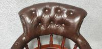Super Victorian Walnut Leather Desk Chair (5 of 7)