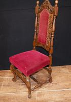 Set Antique Oak Dining Chairs - Farmhouse Kitchen Diners 1880 (7 of 11)