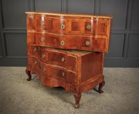 Walnut Serpentine Shaped Chest of Drawers (10 of 14)