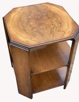 Good Quality Art Deco Burr Walnut Octagonal Side Table (6 of 6)