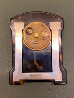 """Charming Art Deco Period Tortoiseshell & Silver-mounted """"Easel"""" or Bedroom Timepiece (5 of 6)"""