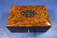 Victorian  French Burr Cedar Jewellery Box with It's Original Interior (3 of 13)