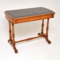 Antique Victorian Satinwood Writing Table by Heal & Son (5 of 15)