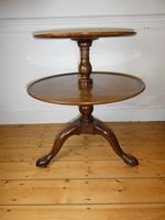English 18th Century Two Tier Round Table (9 of 9)