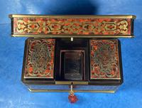 Victorian French Tortoiseshell Twin Canister Tea Caddy (16 of 17)