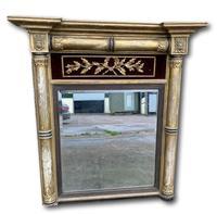 Regency Gilt Pier Mirror With Red Velvet Panel
