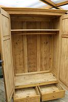 Quality! Large Old Pine Double 'Knock Down' Wardrobe - We Deliver! (9 of 17)