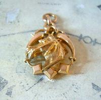 Victorian Pocket Watch Chain Horse & Pony Fob 1890s 10ct Rose Gold Filled Equestrian Fob (9 of 9)