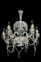 Late 19th Century Six Arm Cut Glass Chandelier (2 of 4)