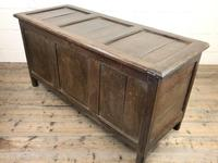 18th Century Oak Coffer with Three Panel Front (4 of 19)