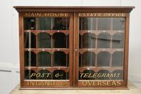19th Century Mahogany Estate Office Mail Cupboard (2 of 10)