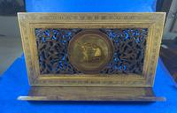 Victorian Italian Sorento Olivewood Book Stand with Micro Mosaic Inlay (9 of 23)